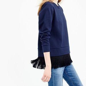 J. Crew • Fringed Pullover Sweatshirt